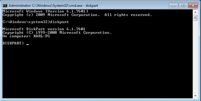 how to get into windows 7 bios from command prompt