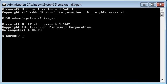 diskpart command